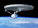 Enterprise in orbit